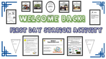 Welcome Back Middle School Station Activity!