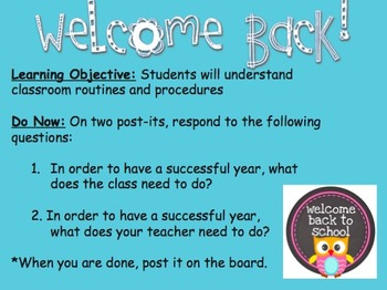 Welcome Back Middle School Students