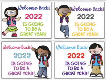Welcome Back New Years Freebie 2018  Color and Black & White for easy printing