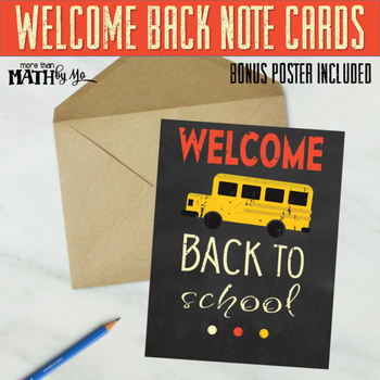 Welcome Back Note Cards: Vintage Bus Theme