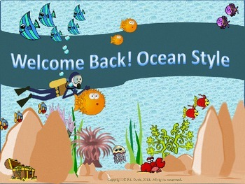 Welcome Back To School Ocean Style