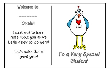 Welcome Back One-Sided Postcard -Bird