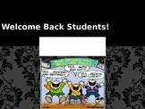 Welcome Back PPT