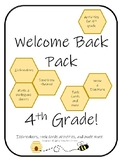 Welcome Back Pack 4th Grade