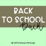 Welcome Back Pack! All Documentation Needed for a New Year!