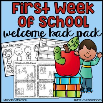 First Week of School Work & Student Data Forms for Pre-K, Kindergarten & 1st