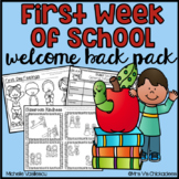 First Week of School Work & Student Data Forms for Pre-K,