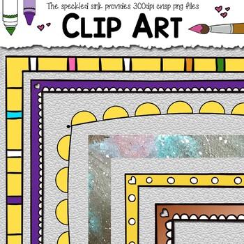 78a496363074 Clip Art Frames. Elementary School Clip Art. 20 piece School Clip Art.