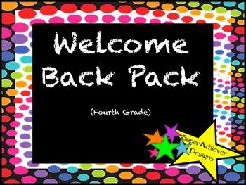 Welcome Back Pack Fourth Grade_Colorful Dots