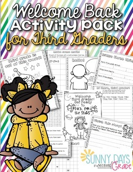 Welcome Back Pack for Third Grade