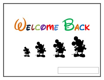 Welcome Back Parent/Student Info Packet