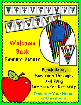 Welcome Back Pennant Banner {Back to School}
