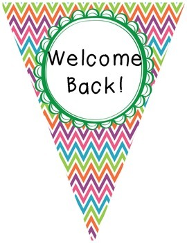 Welcome Back to School Pennants