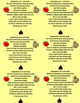 Welcome Back Poem