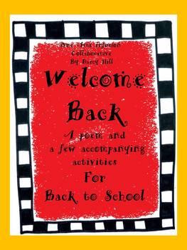 Welcome Back Poem and Pages