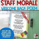 Staff Sunshine: Welcome Back Poem for Staff
