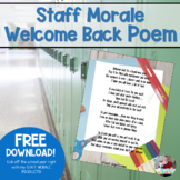 Welcome Back Poem for Staff