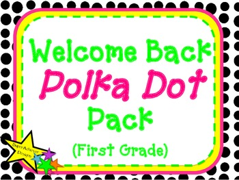 Welcome Back Polka Dot Pack_First Grade