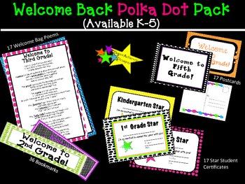 Welcome Back Polka Dot Pack_Fourth Grade