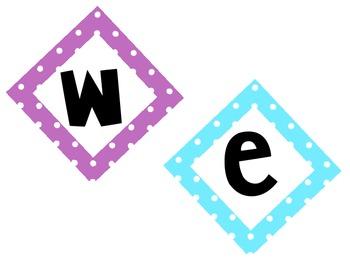 Welcome Back! Polka Dot Sign