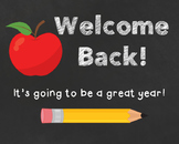 Welcome Back Poster Freebie