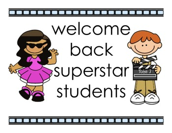 Welcome Back Poster - Hollywood Theme