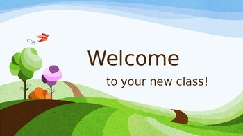 Welcome Back Powerpoint: Editable*