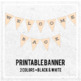 Welcome Back Printable Banner - Bunting Banner Style