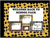 EDITABLE Welcome Back Rules and Name Cards Jungle Pack
