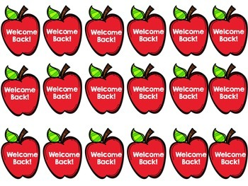Welcome Back- SWAG TAGS (Back to School) Brag Tags