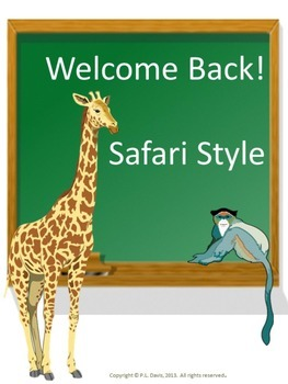 Welcome Back To School Safari Style