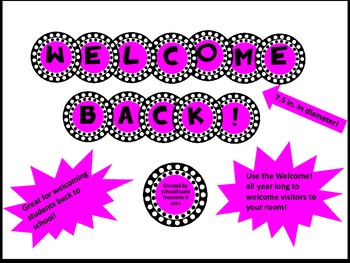 Welcome Back! Sign in Pink