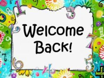 Welcome Back Sign or Poster