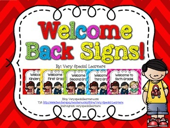"""""""Welcome to School"""" Signs!"""