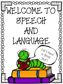 FREE Welcome Back Signs (general & speech-language)