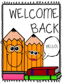 Welcome Back Signs [FREE]