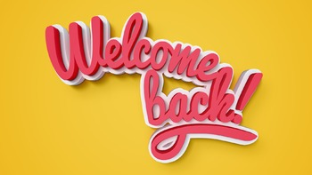 """Welcome Back"" - Smart Board Graphics 3-Pack Bundle"
