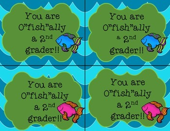 """Welcome Back Snack Tags- You are O""""fish""""ally  K-5th grade"""