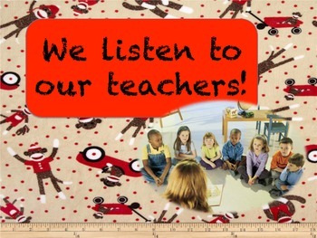 Welcome Back! Sock Monkey Themed Classroom Rules