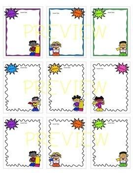 "Superhero ""Welcome"" EDITABLE Stationery! (Principals or Teachers)"