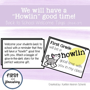 Welcome Back Student Gift Tag: Howlin' Good Time