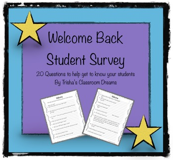 Welcome Back Student Survey