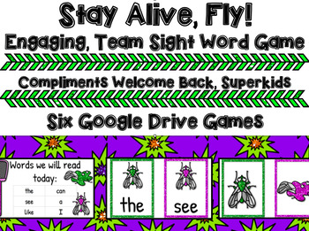 Stay Alive, Fly Sight Word Games