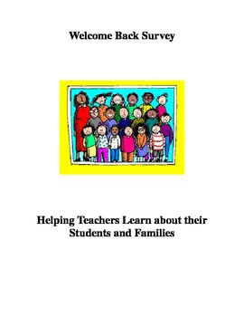 Welcome Back Survey: Learning about Students & Families