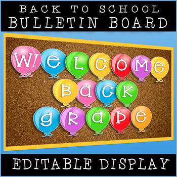 Welcome Back To School Grade 1 Welcome Banner / Print And Go!
