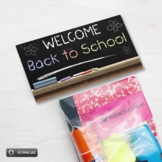 Welcome Back To School Bag Toppers for 1st Day of School, Treat Bag Toppers