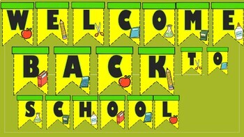 Welcome Back To School Bulletin Board Banner