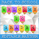Welcome Back To School / Editable Grade 4 Welcome Banner / Colorful Display!