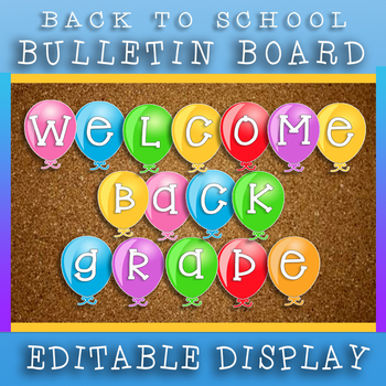 Welcome Back To School Grade 6 Welcome Banner / Print And Go!
