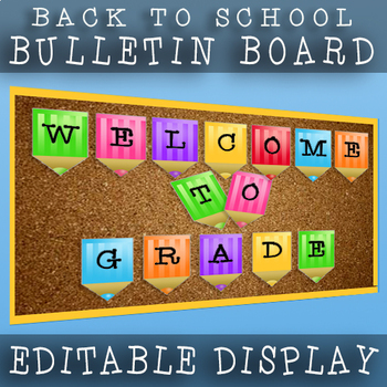 Welcome Back To School / Editable Grade 7 Welcome Banner / Colorful Display!